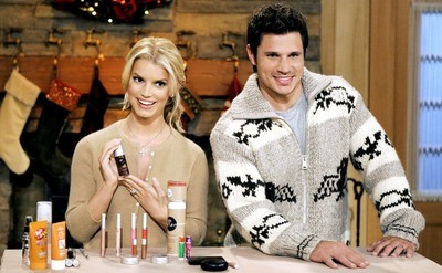 Nick & Jessica's publicity still, for the Family Christmas Special Reality TV show.
