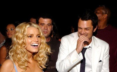 Jessica Simpson and Johnny Knoxvilee celebrate 'The Dukes of Hazzard' Premiere, in an after-party, in Los Angeles.